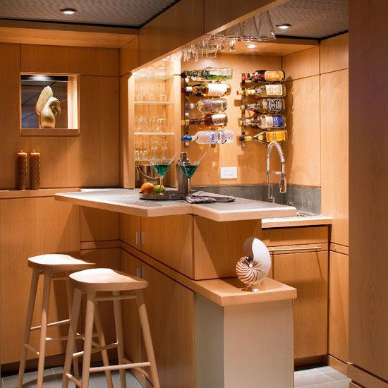 Awesome Make The Most Of A Small Kitchen! Basement DesignsHome Bar DesignsBasement  IdeasWet ... Photo Gallery