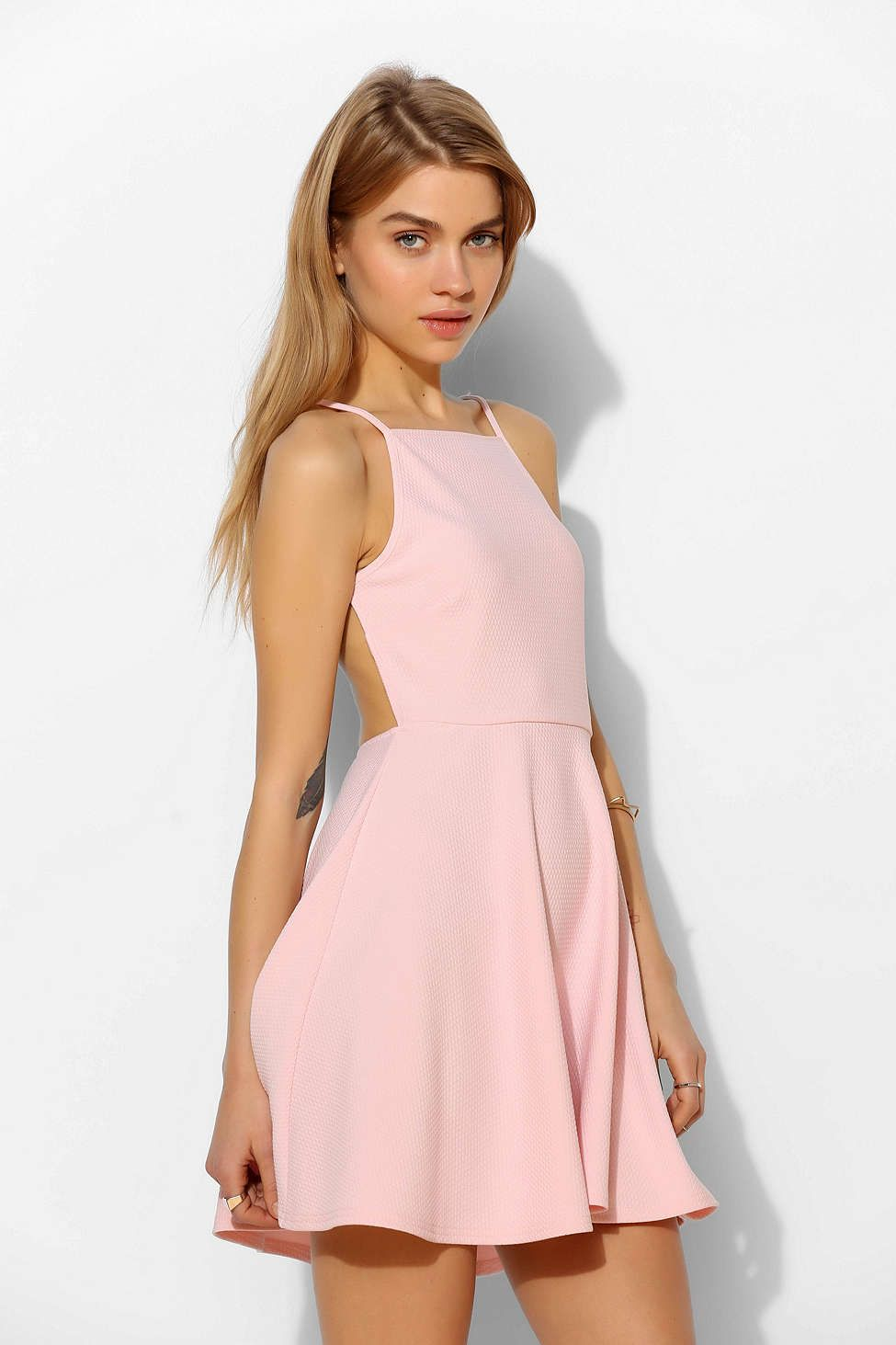 Oh My Love Strappy-Back Skater Dress - Urban Outfitters | Lush ...