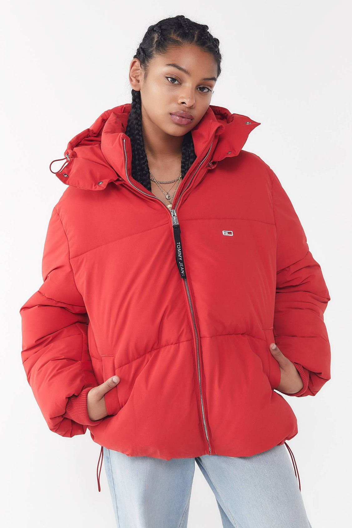 ea2844a6b Tommy Jeans Oversized Hooded Puffer Coat   New Arrivals   Oversized ...