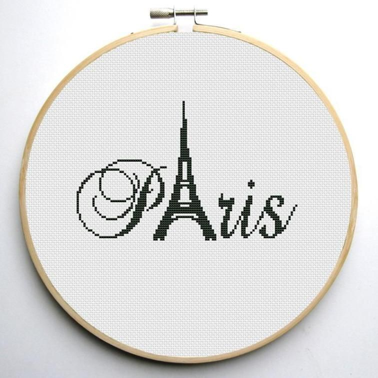 Paris Cross Stitch Pattern | cross stitch | Pinterest | Bordado ...