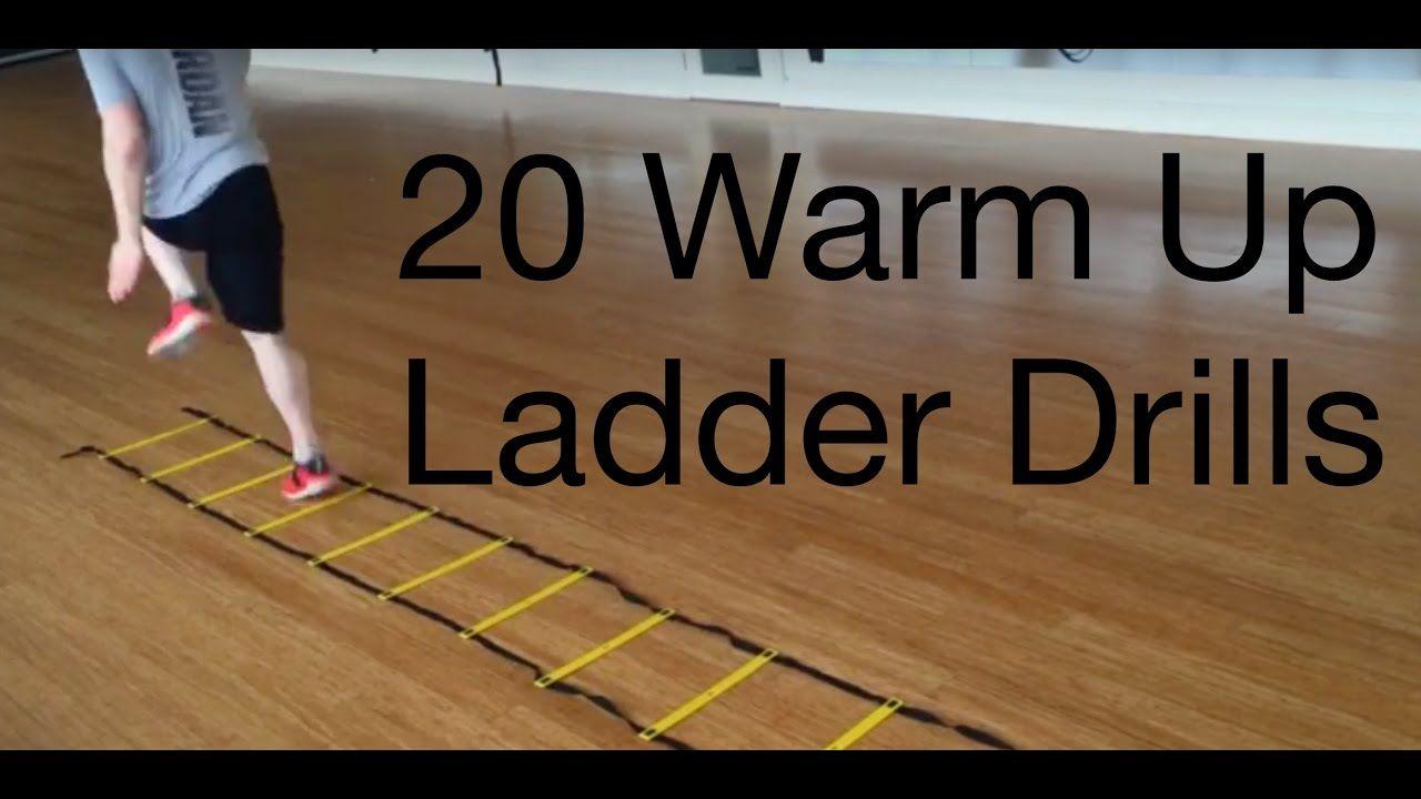 20 beginner to advance warm up agility ladder drills
