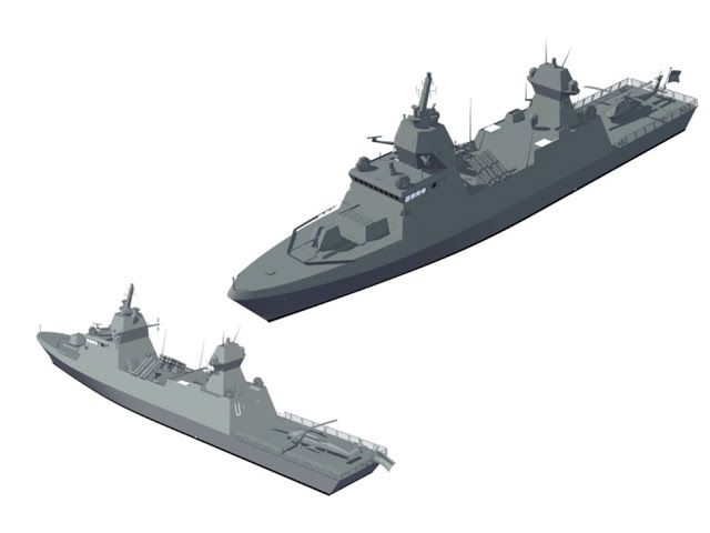 Design of Future TKMS Built Saar 6 MEKO A100 Corvettes for