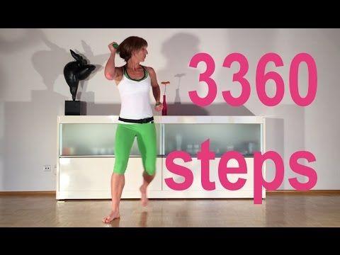 3360 steps in 30 min. fatburning mit Gabi Fastner - YouTube #corepilates