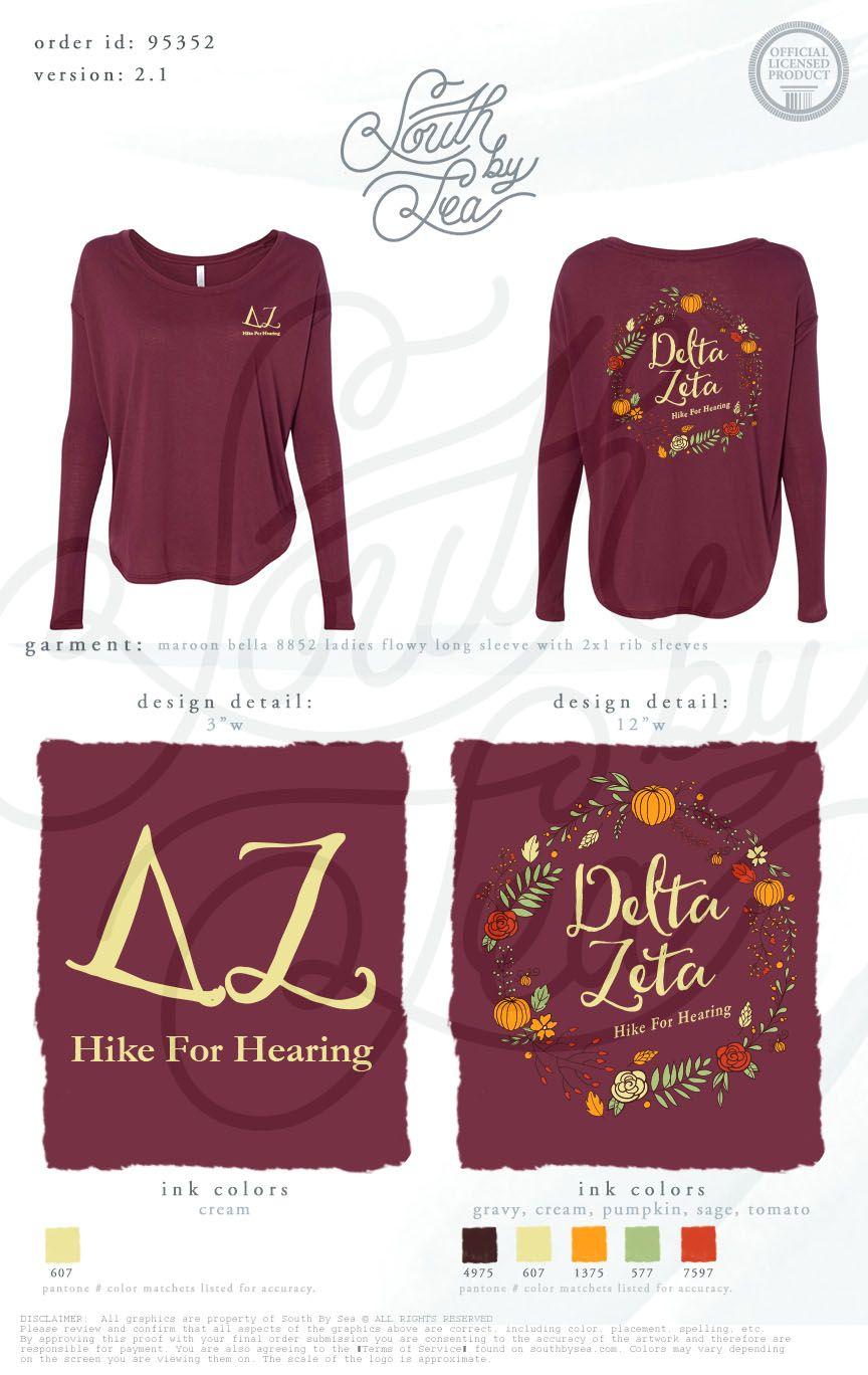 Delta Zeta   DZ   Hike For Hearing   Fall Philanthropy Shirt ...