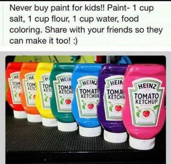 How to make your own paint for kids | DIY Ideas | Pinterest ...