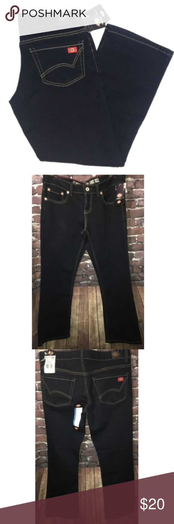 bf241723397 DICKIES Jeans Size 6P Stretch 5 Pocket Relaxed Fit NWT DICKIES Women s  Jeans Stretch 5 Pocket