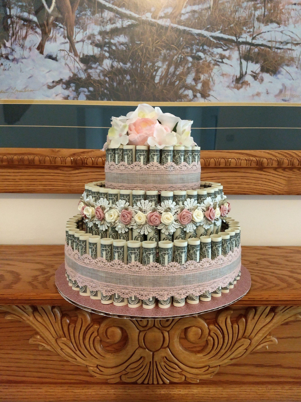 Money cake 3 tier graduation gift wedding gift mothers