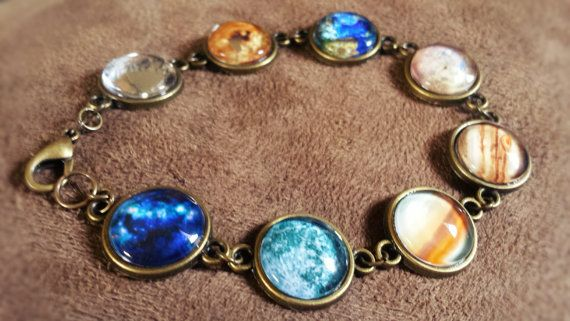Glass Planet Bracelet in Antique Bronze by ImmortalReflections