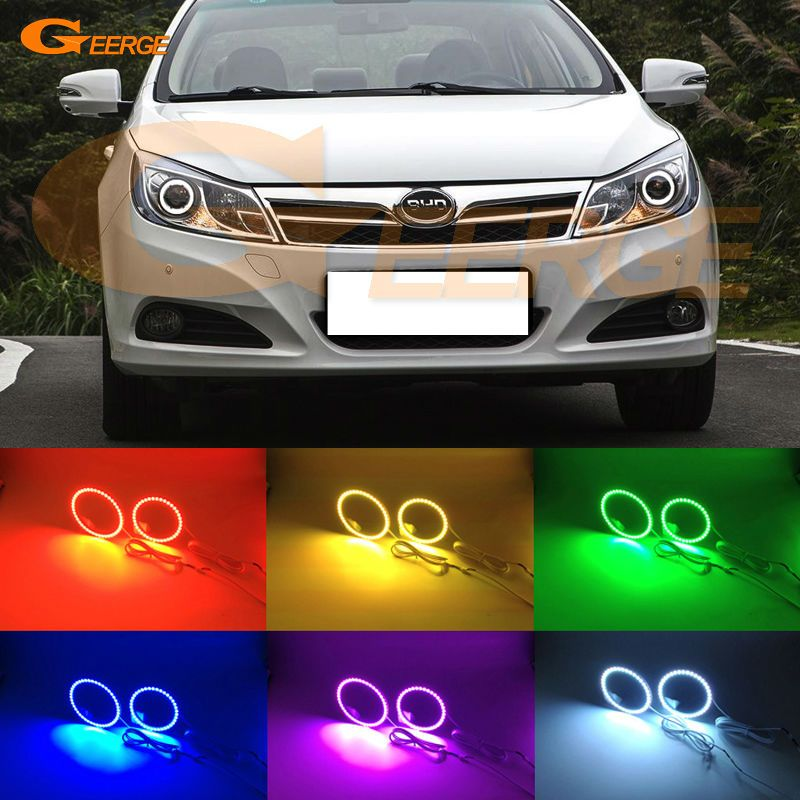 For BYD Surui 2012 2013 2014 2015 Excellent Angel Eyes Multi-Color Ultra bright RGB LED Angel Eyes kit Halo Ring