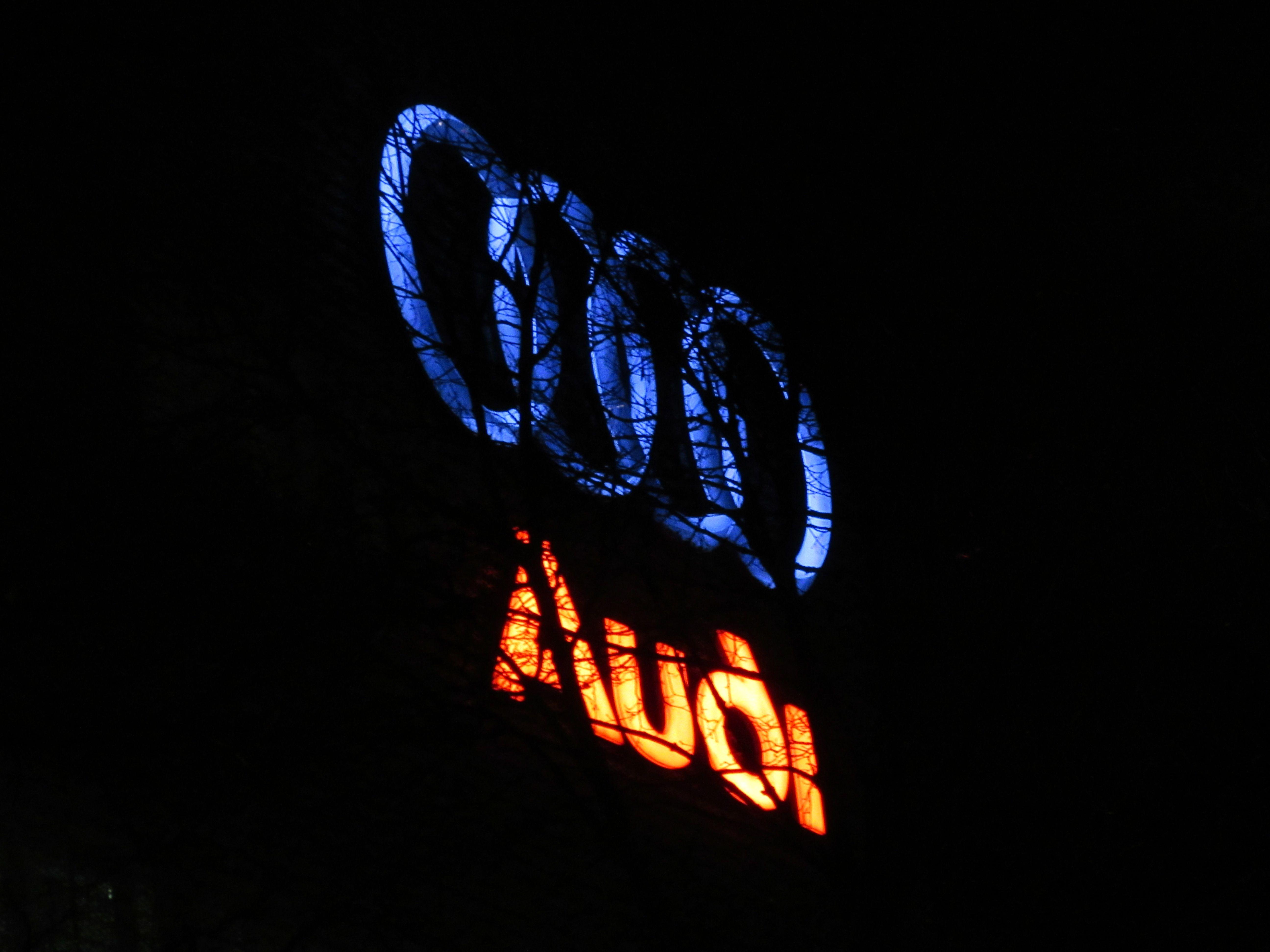 ITAP Of A Neon Audi Sign via /r/itookapicture