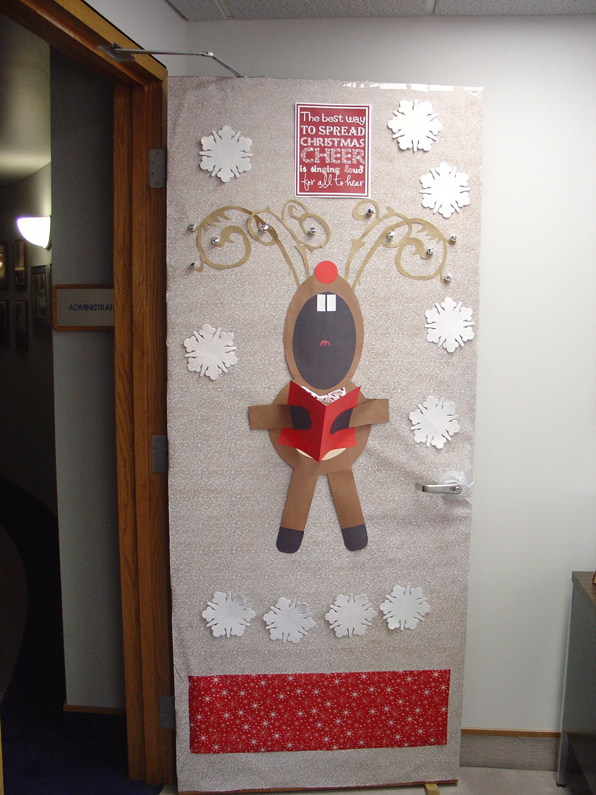 Christmas Decoration Ideas 2012 christmas door decoration at office 2012 | christmas crafts