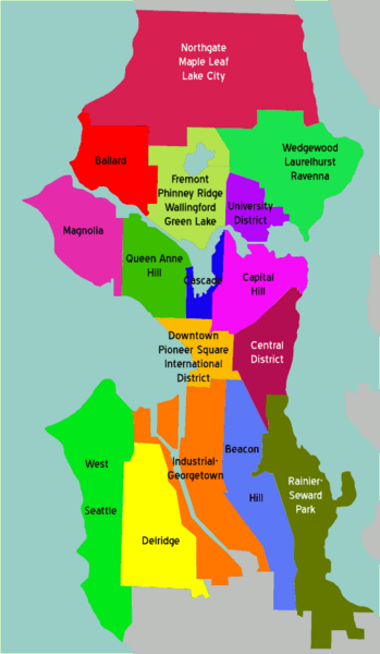 map seattle areas Google Search