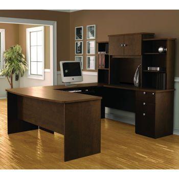 Costco Palmer U Shape Workstation With Assembled Pedestal Office Furniture Suite Home Office Design Home Office Desks