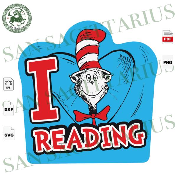 I Love Reading Dr Seuss Svg Reading Day Svg Reading Svg Love Reading Svg Books Svg Bookish Gifts Book Lovers Dr Seuss Book Dr Seuss Gift Dr Seuss Dr In 2021
