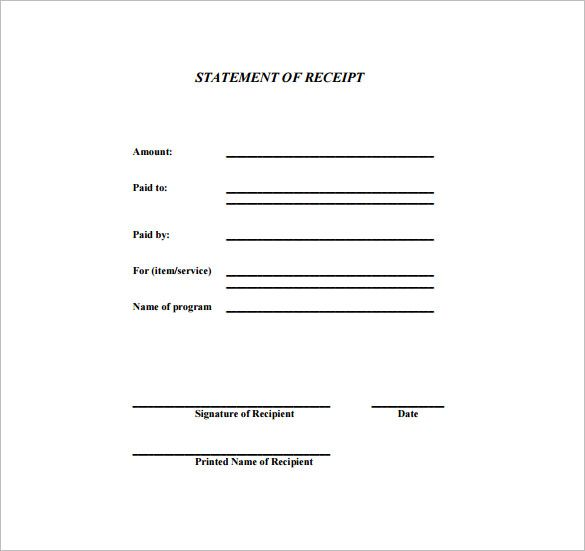 Generic Receipt  Receipt Template Doc For Word Documents In