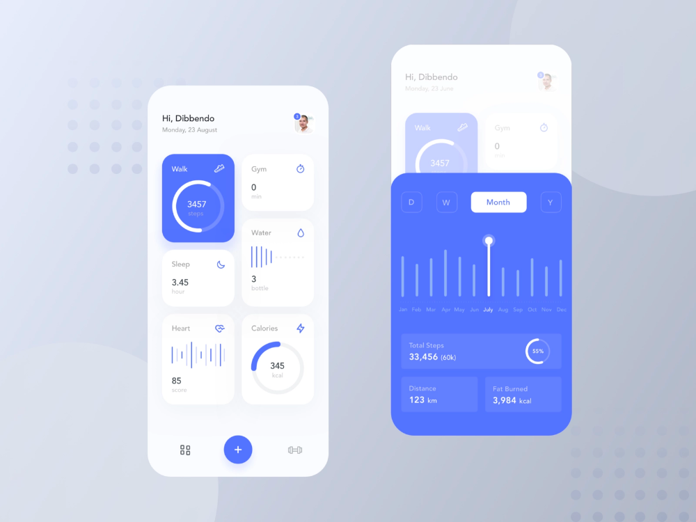 Health Tracking App by Dibbendo Pranto ✪ for UI Craft on Dribbble