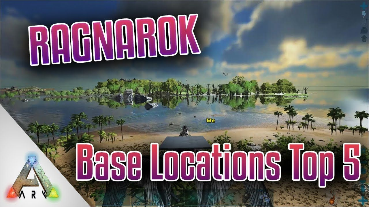 Ark Ragnarok Best base locations top 5 PVE german deutsch