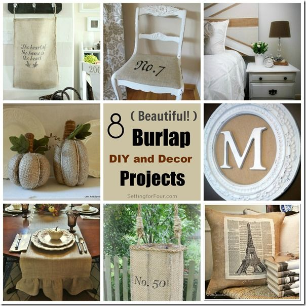 Burlap Home Decor Ideas Part - 29: All Things Burlap: See And Make 10 Beautiful Burlap Crafts, Home Decor And  DIY Projects For Your Home! Burlap Table Decor, Banners, Wreaths And More!