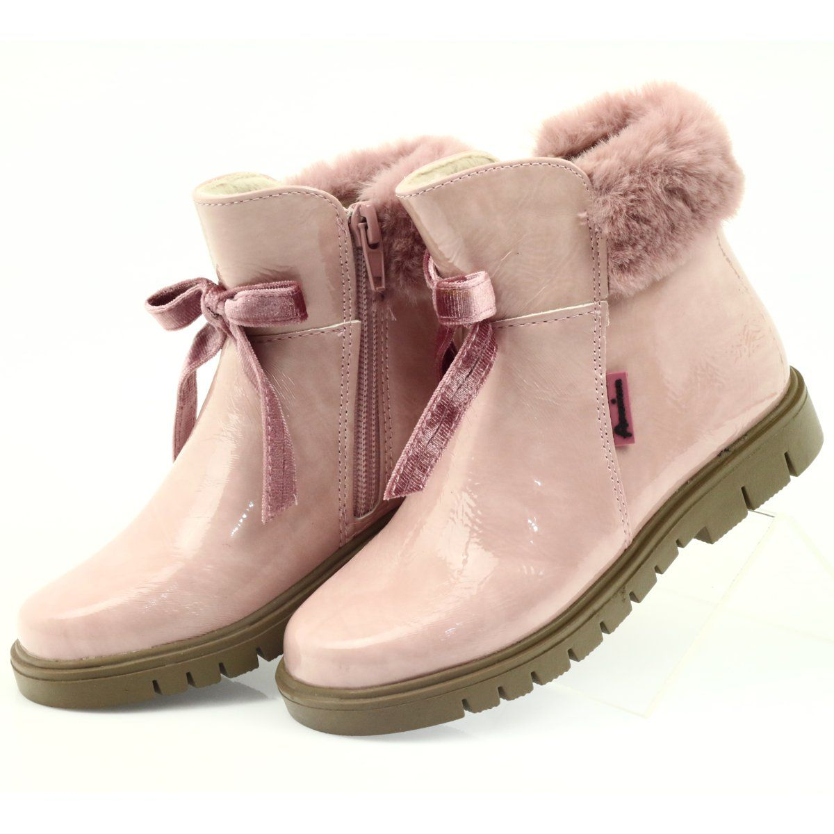 American Club American Kozaki Botki Buty Zimowe 18015 Rozowe Boots Timberland Boots Shoes