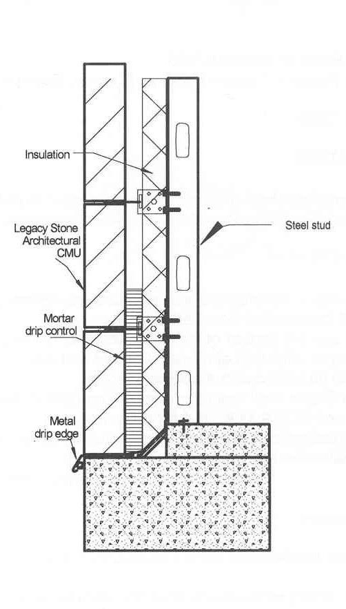 Legacy Stone Nitterhouse Masonry Section Drawing Technical Drawing Architectural Section
