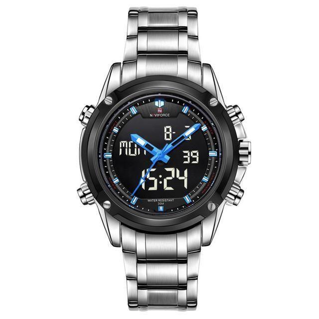 Mens Luxury Military LCD Luminous Analog & Digital Watch