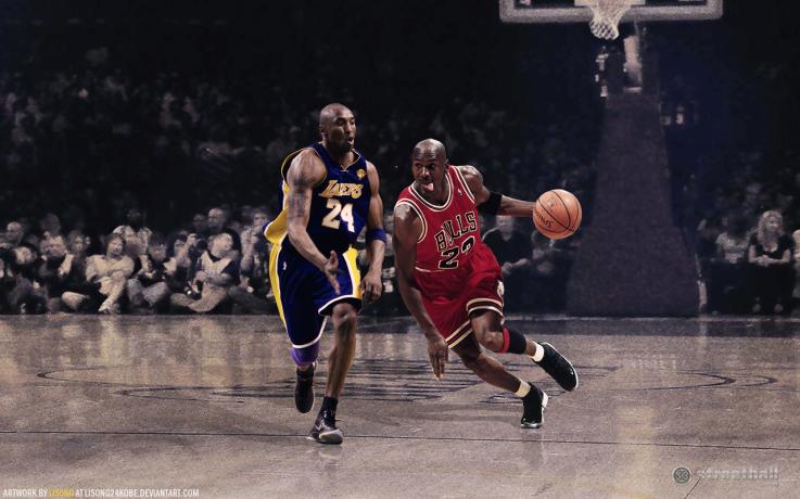MJ vs Kobe HD Wallpaper 2012