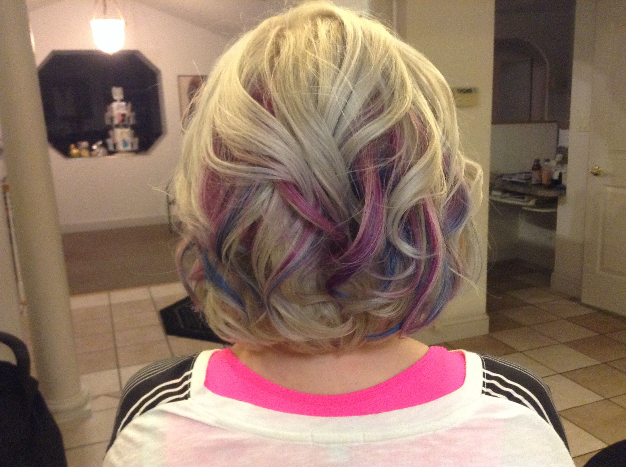 Blonde with black and pink highlights — 5