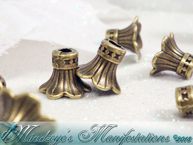 50 Antq Bronze Finish Trumpet bead Caps 11x9mm ~ MBC001. Starting at $5 on Tophatter.com!