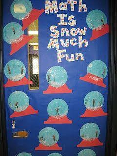 Winter Math Door Decorations