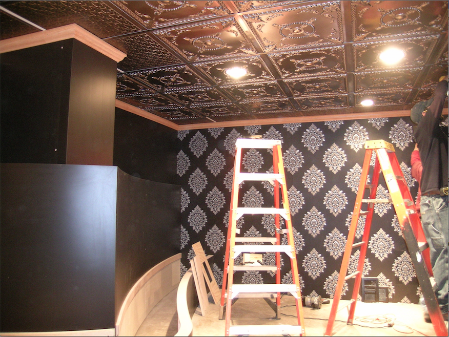 Ceilumes Alexander And Continental Faux Tin Tiles Were Installed In