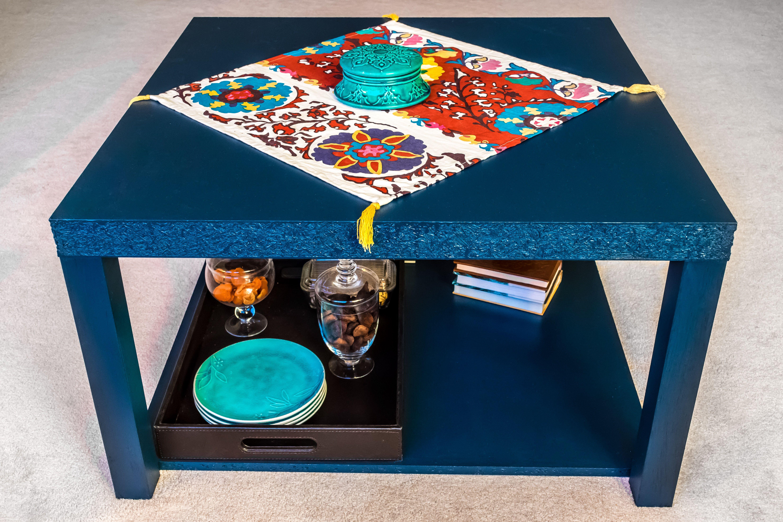 Ikea hack, lack coffee table, vintage, navy blue | Lack ...