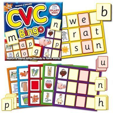 Smart Kids Three Letter Words Cvc Word Bingo Letter