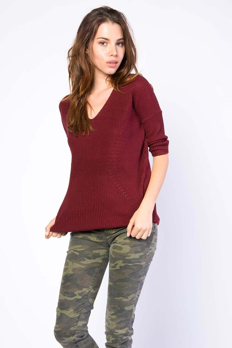 Purl Knit Sweater Top