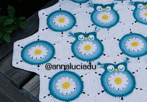 Crochet Pattern Owl Granny Squar E Baby Blanket Crochet Owl