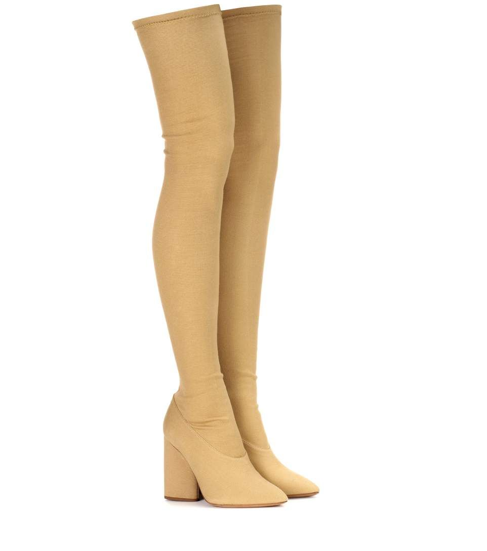 Over-the-knee canvas boots (SEASON 4) Yeezy by Kanye West Outlet Buy Cheap For Nice Order Cheap Price utIg9