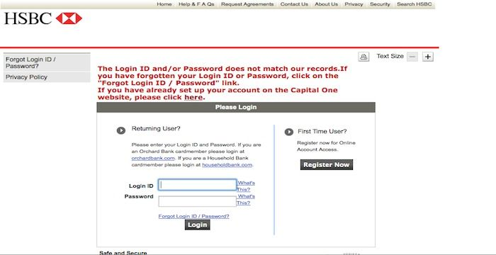 HSBC Credit Card Login | Login Archives | Cards, Login page