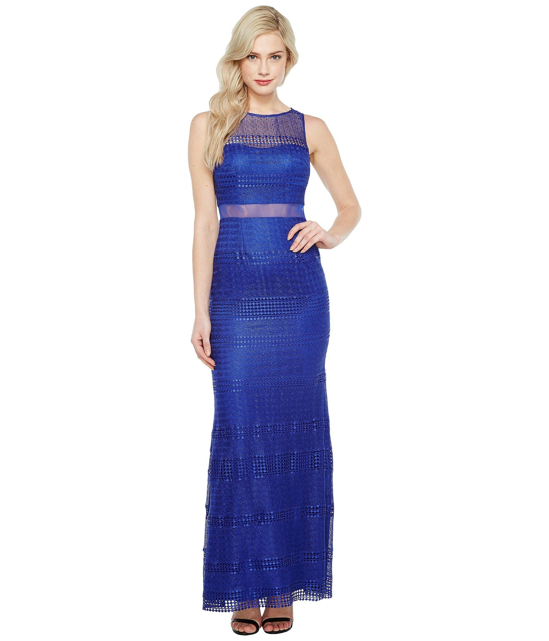 ADRIANNA PAPELL Lace Modified Mermaid Gown. #adriannapapell #cloth ...
