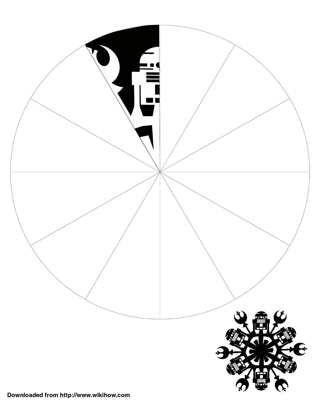printable r2 d2 snowflake template wikihow starwars