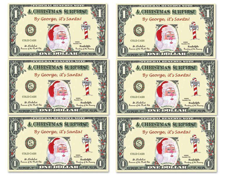 Santa bucks - printable money to be used for Santa\u0027s workshops or