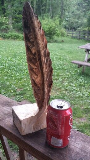 Chainsaw Carved Feathers Wooden Feather Wood Carving