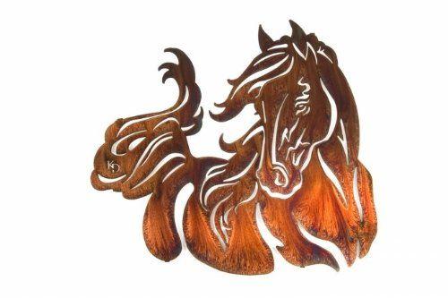 amazon com lazart windy horse western decor metal wall art 21