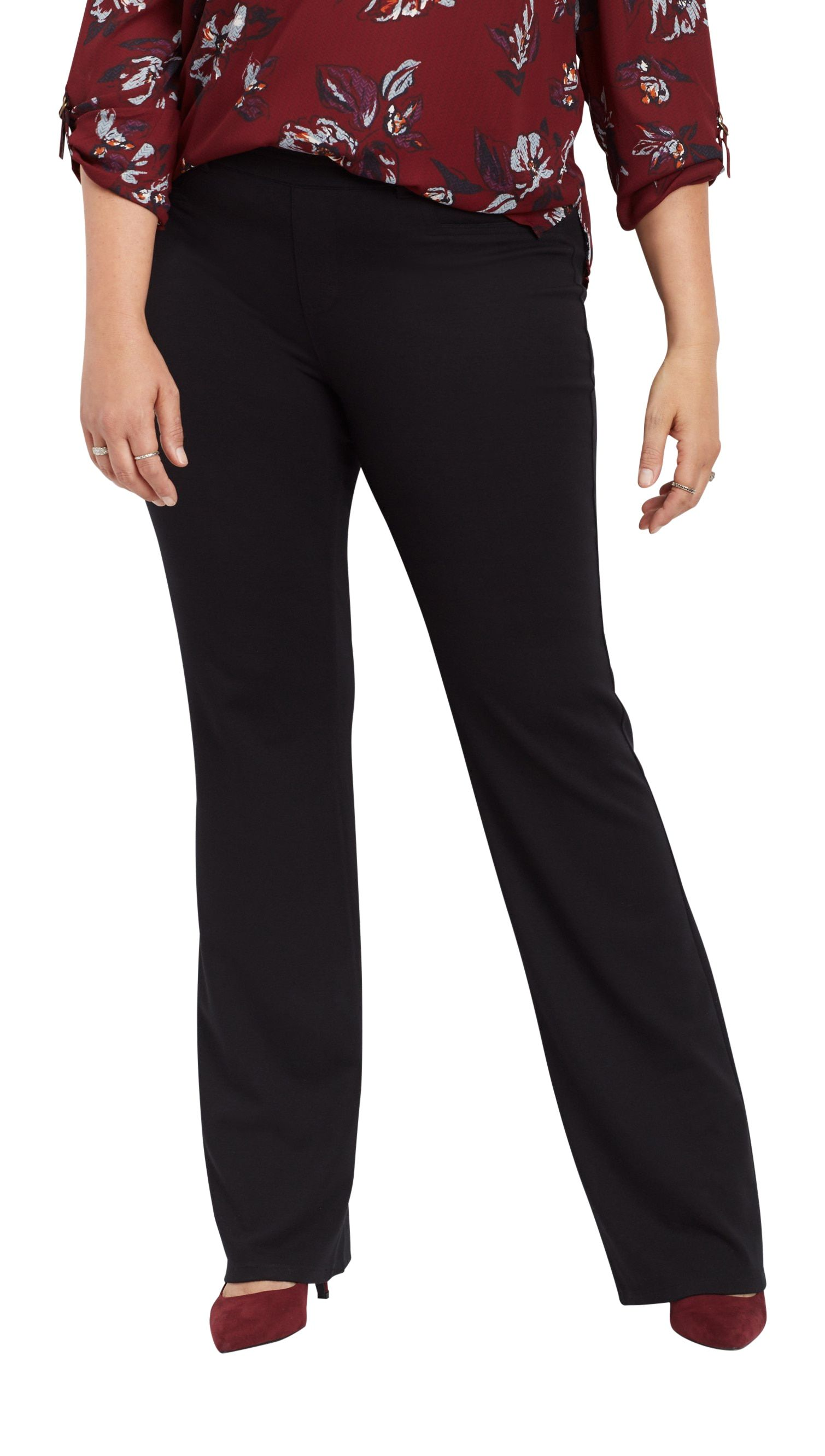 Maurices Plus Size Pull On Black Ponte Bootcut Pant Walmart Com Bootcut Pants Plus Size Maurices Plus Size [ 2663 x 1509 Pixel ]