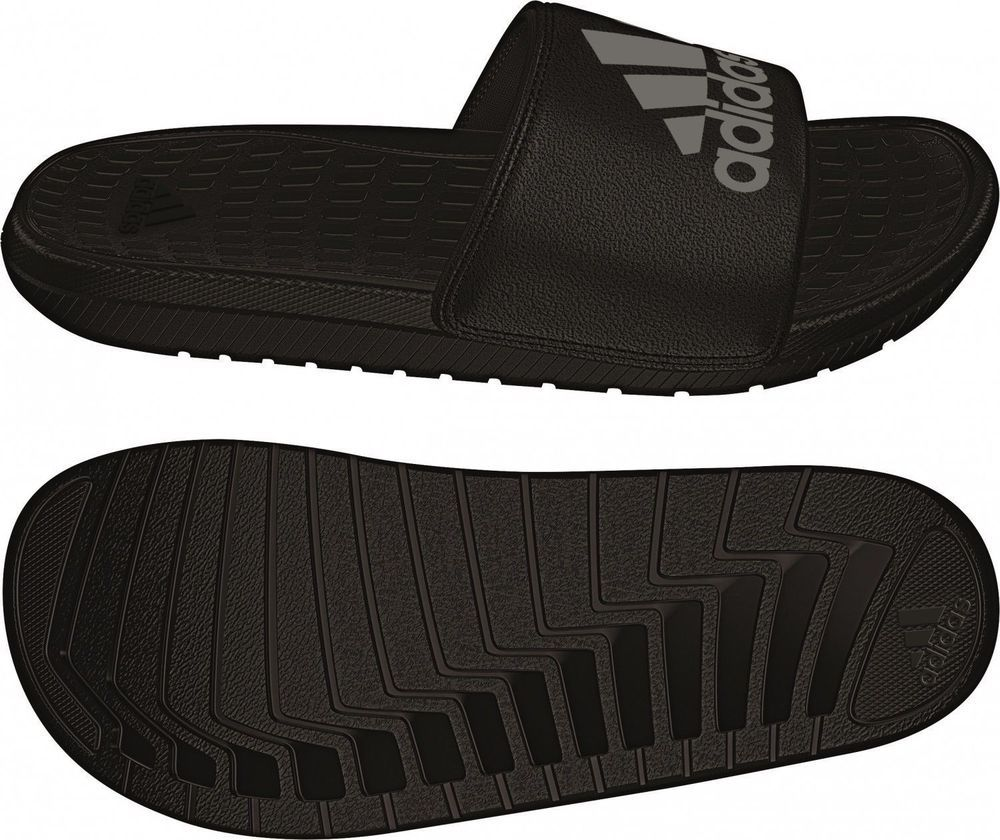Adidas aq5897 voloomix diapositive nero / silver slipper 'uomini' sandali.
