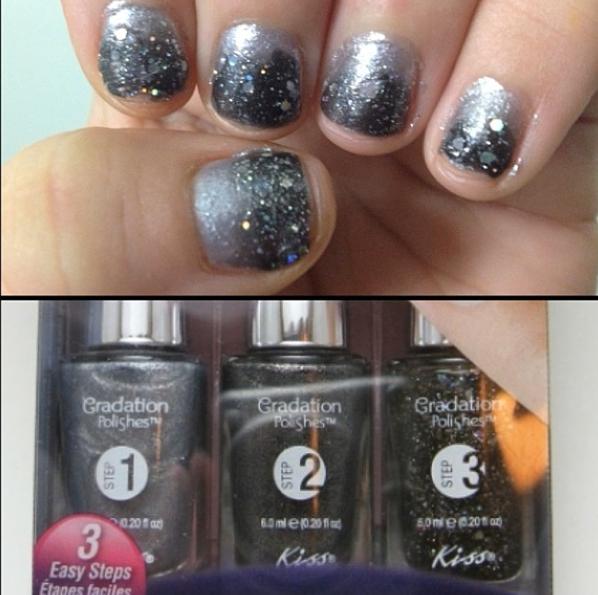 Kiss nail polish #gradation @Influenster | Rose Vox Box | Pinterest ...