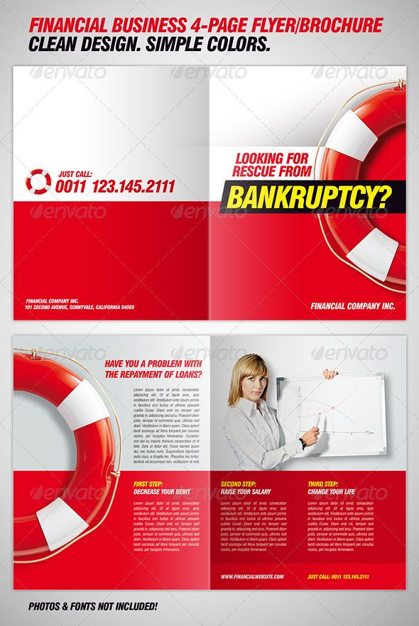 bankruptcy flyer financial brochure template graphicriver