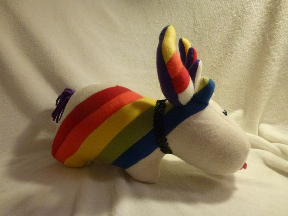 Rainbow Moose by BlingThingsByColleen on Etsy