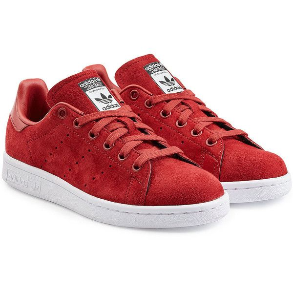 Adidas Originals Stan Smith Suede Sneakers found on Polyvore featuring  shoes, sneakers, chaussure,