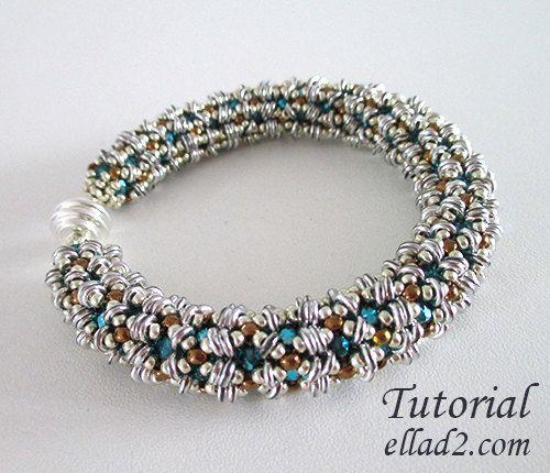 PDF beading pattern DIY Tutorial for beadwoven necklace /'Callista/'
