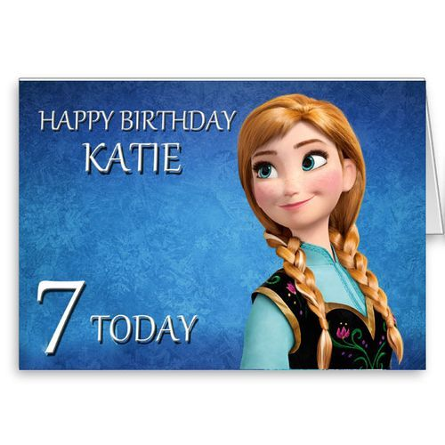 Frozen Anna personalised birthday card – One Direction Personalised Birthday Card