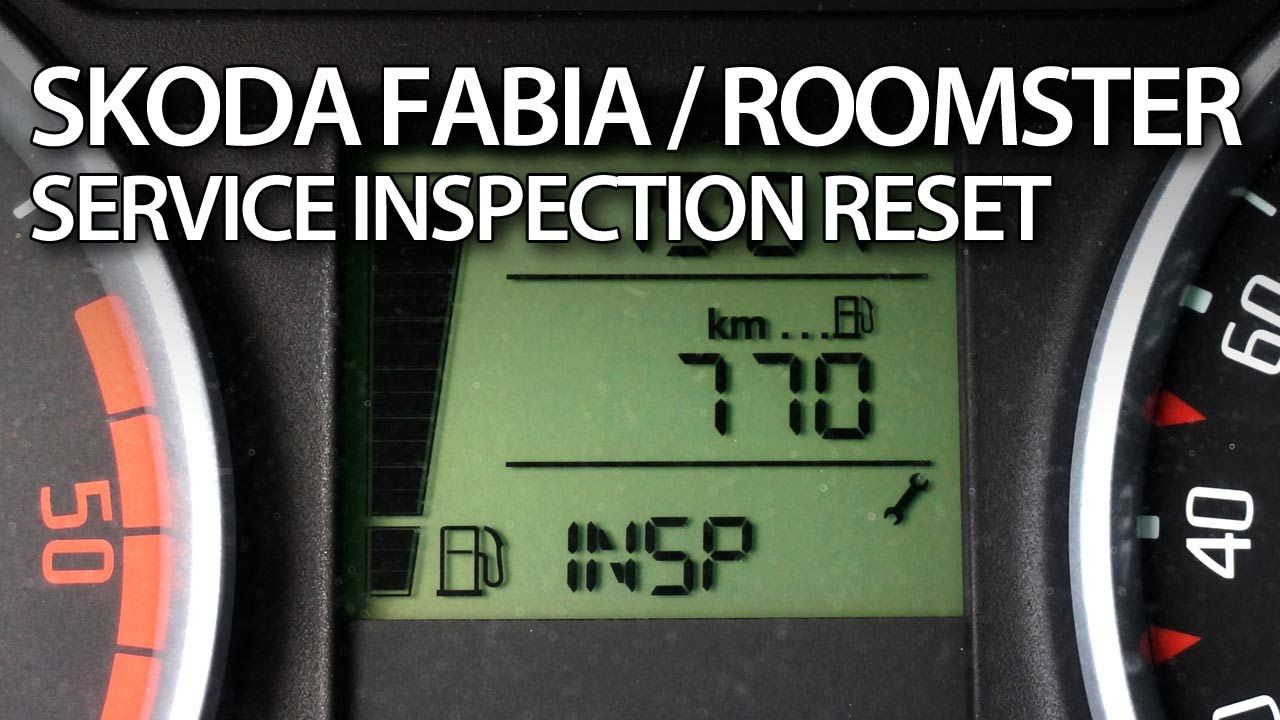 How to #reset INSP #service reminder in #Skoda #Roomster & #Fabia II  #maintenance #cars inspection